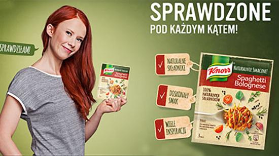 Aneta Łańcuchowska w reklamie Knorr - Naturalnie Smaczne