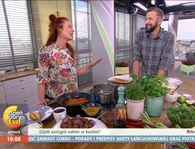 Aneta Łańcuchowska i Piotr Kucharski, gotują w DDTVN