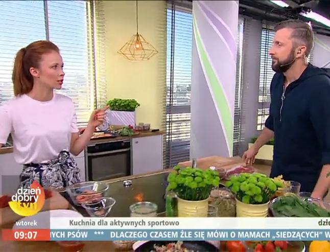 gotowanie na żywo w DDTVN - Aneta Łańcuchowska i jej cykl