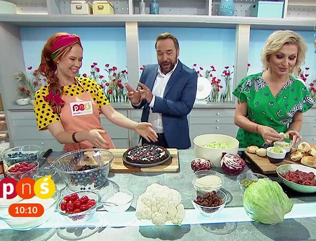 Aneta Łancuchowska, Marzena Kawa i Łukasz Nowicki w studio Pytanie na Śniadanie