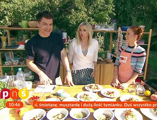 Aneta Łańcuchowska, Marzena Rogalska i Tomasz Kammel w Pytaniu na Śniadanie