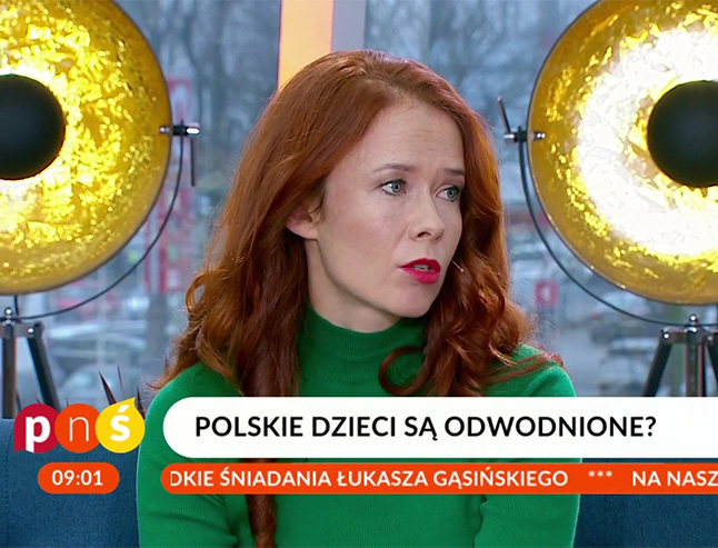 Aneta Łańcuchowska, dietetyczka w studio Pytania na Śniadanie