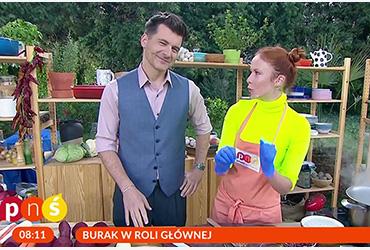 Aneta Łańcuchowska gouje na żywo w kuchni Pytania na Śniadanie