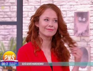 Aneta Łańcuchowska w studio Pytanie na Śniadanie